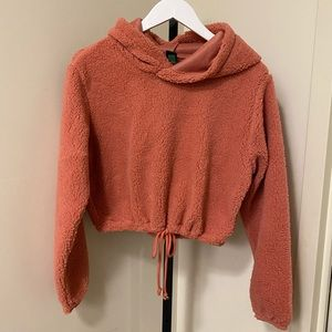 WILD FABLE Cropped Sherpa Hoodie NWOT